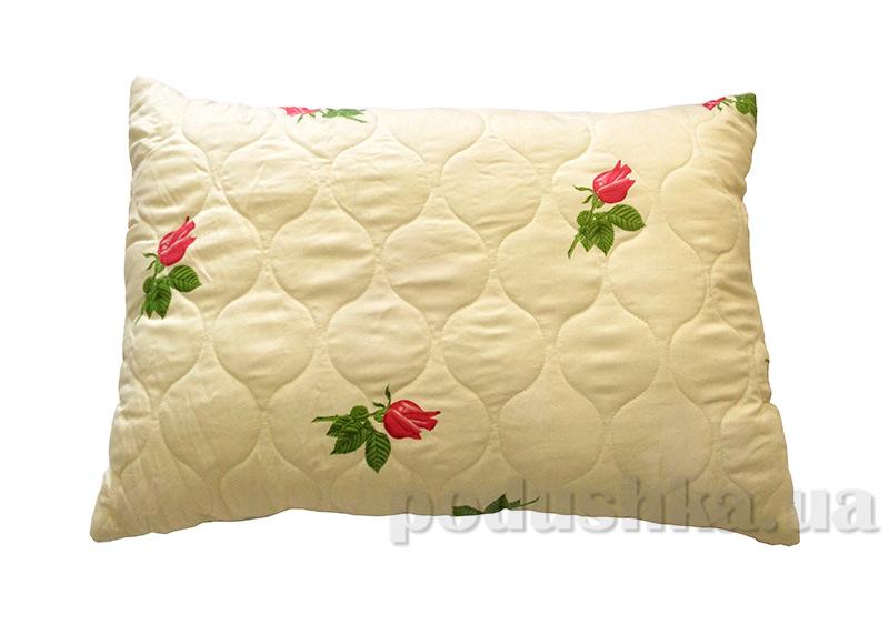 Стеганая подушка Билана в сатиновом чехле без молнии