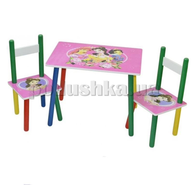 Столик Baby Tilly W02-5316 с двумя стульчиками Принцессы
