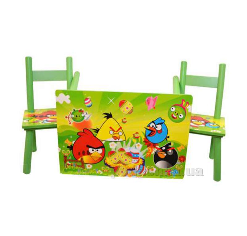 Столик Bambi D 11552 с двумя стульчиками Angry Birds