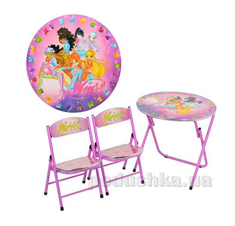 Столик Bambi DT 22-15 с двумя стульчиками H2 Винкс
