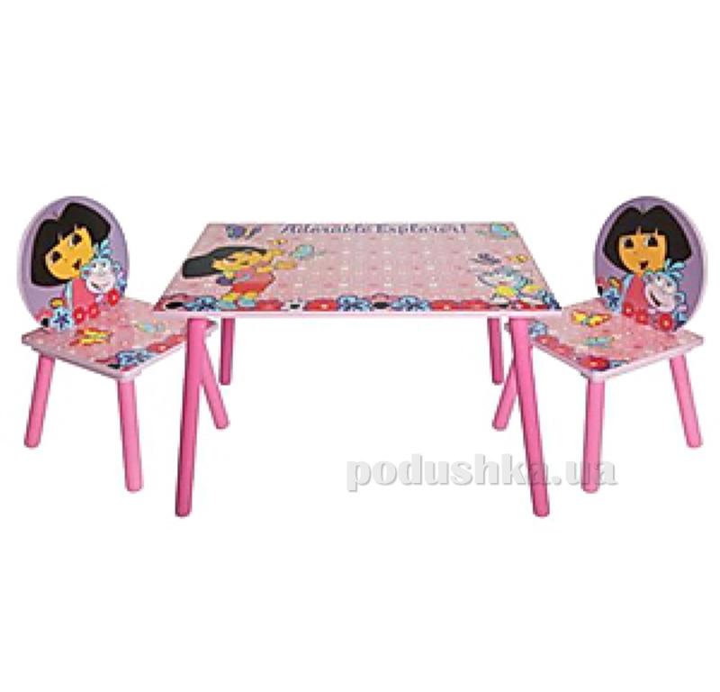 Столик Bambi J 002-051 квадратный с двумя стульчиками Даша