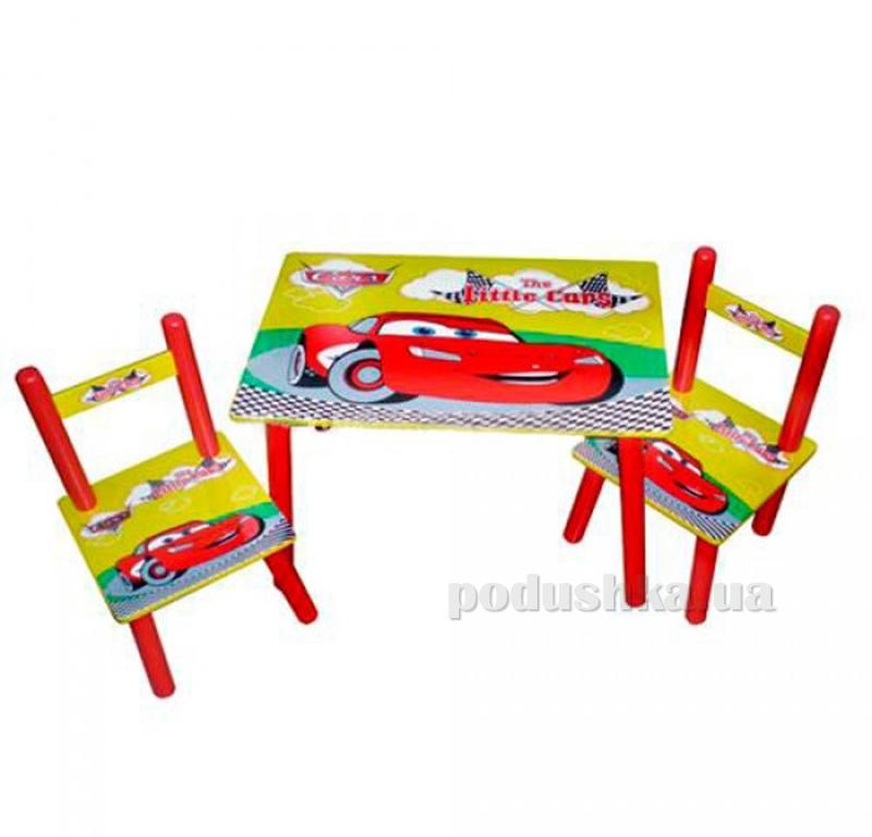 Столик Bambi M 0292 Красные машинки с двумя стульчиками