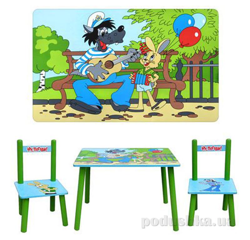 Столик Bambi M 1433 с двумя стульчиками Ну, Погоди!