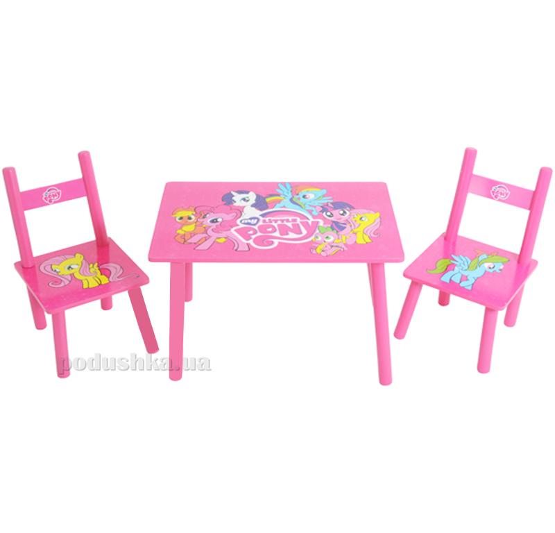 Столик Bambi M 1522 с двумя стульчиками Лошадка