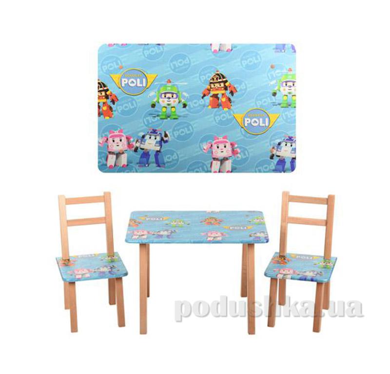 Столик со стульчиками Bambi M 2754 Poli Robocar