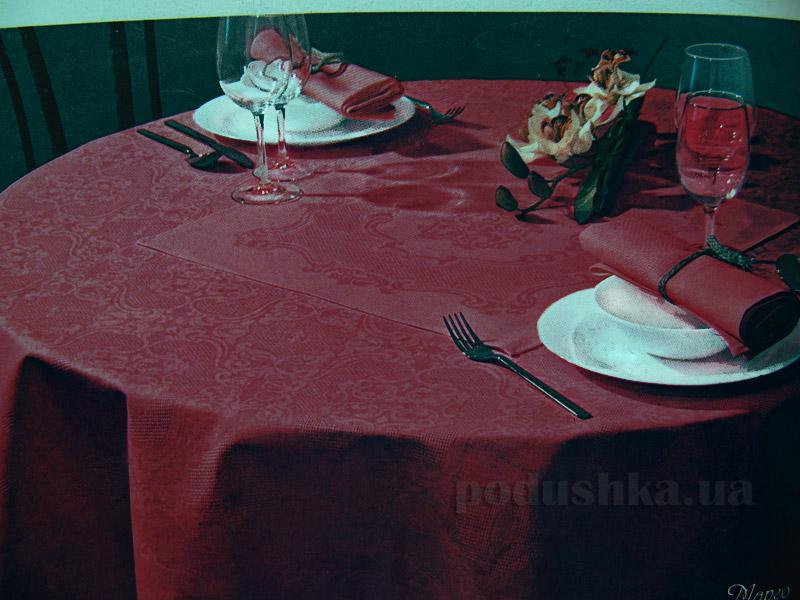 Столовый набор Белорусский лен Марго 11с465-ШР бордовый