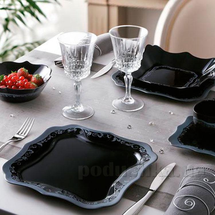 Столовый сервиз Luminarc Authentic Silver Black H8408 19 предметов