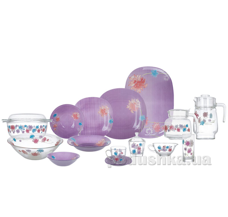 Столовый сервиз Luminarc Carina Angel Purple 71 предмет N7123