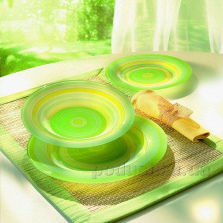 Столовый сервиз Luminarc Rainbow Green G4432 18 предметов