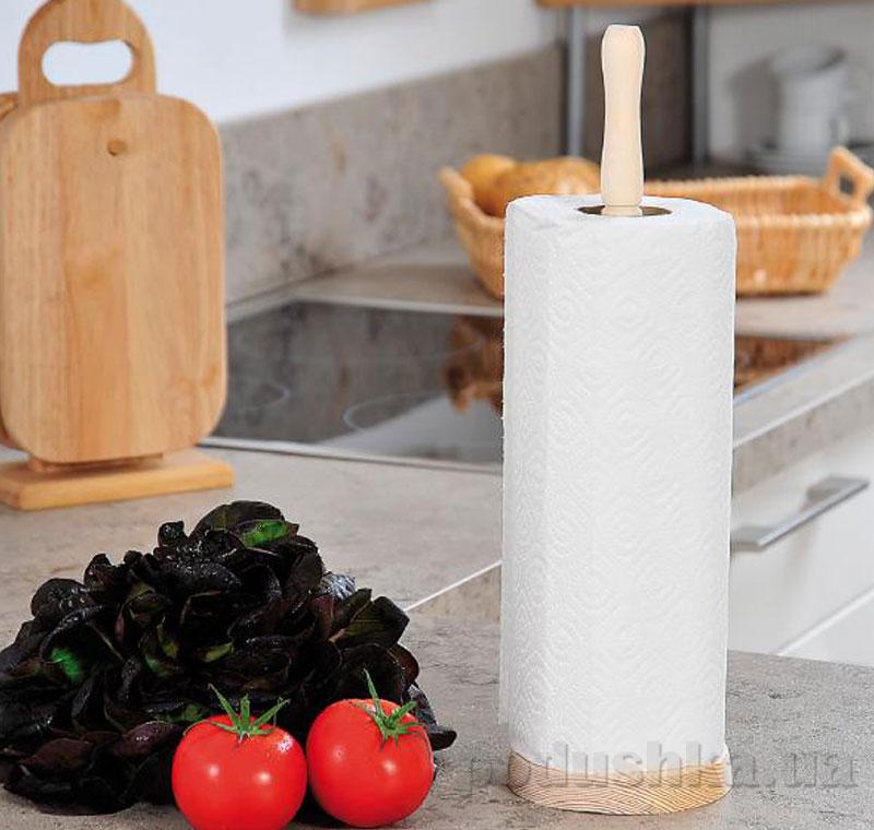Стойка для кухонного полотенца Kesper G12002 с полотенцем светлый бук