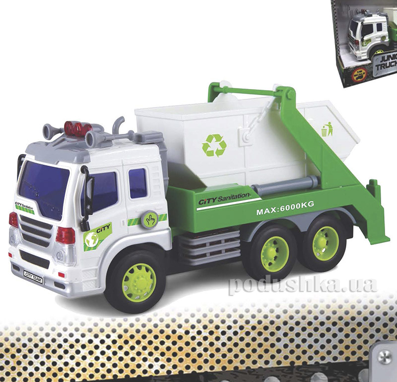 Строительный мусоровоз Junior Trucker 28 см со светом и звуком Dave Toy 33026   Dave Toy