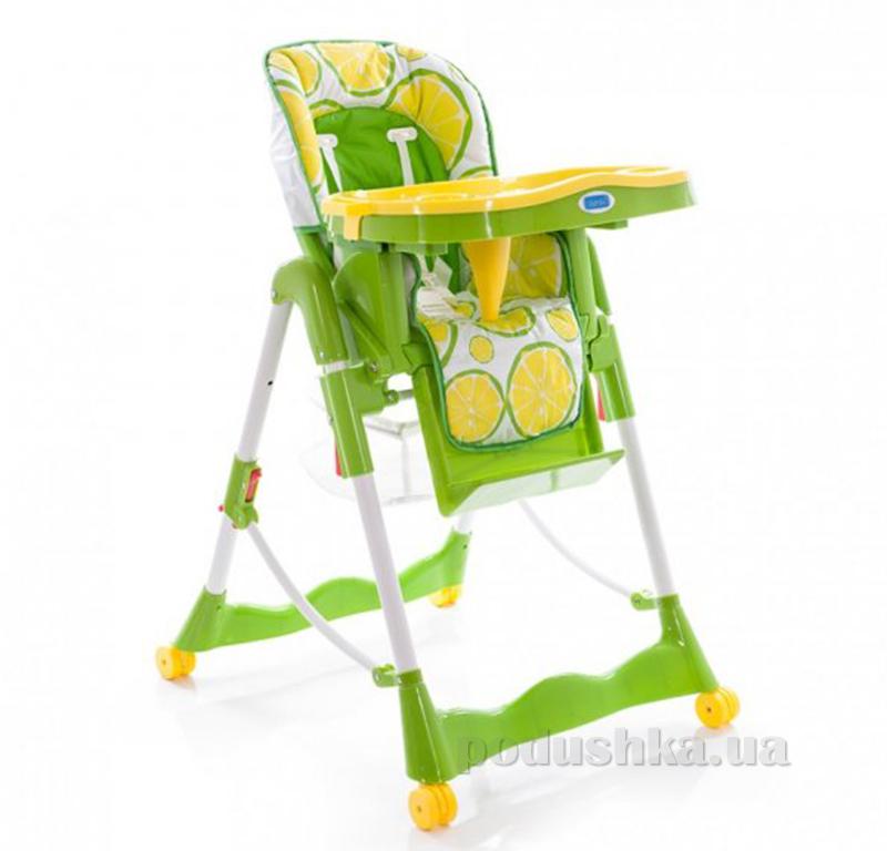 Стульчик для кормления Bambi RT 002 L Салатовый с лимонами