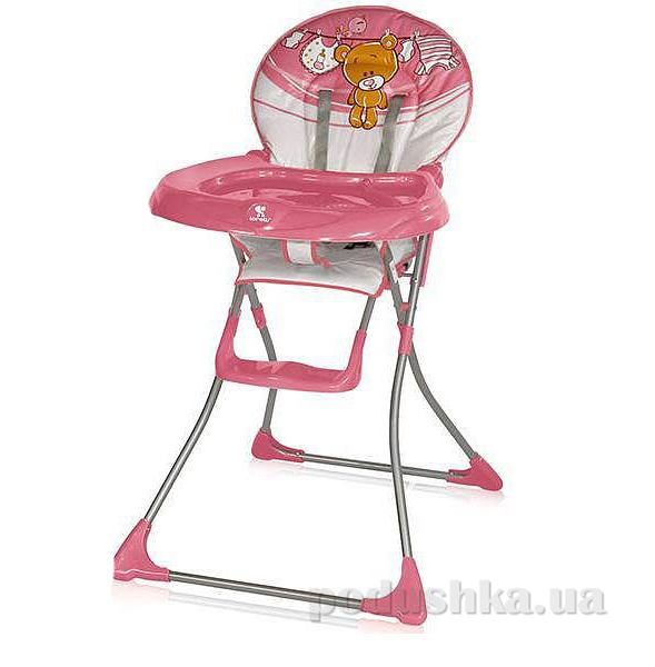 Стульчик для кормления Bertoni Jolly Pink Teddy Bear