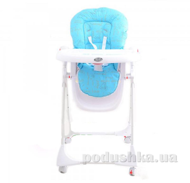 Стульчик для кормления Kids Life Мишка Голубой KS395 blue