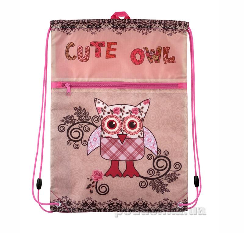Сумка для обуви с карманом Kite Cute Owls 601-2