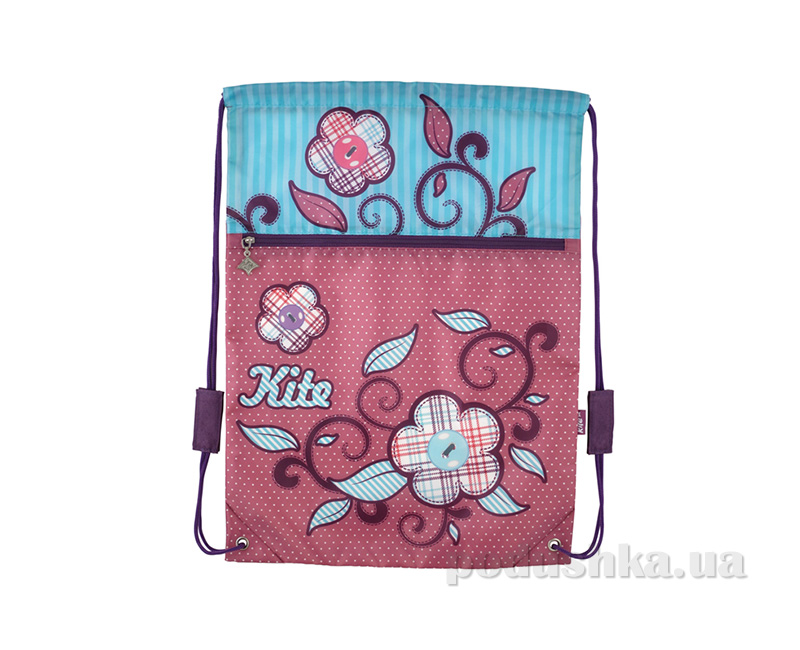 Сумка для обуви с карманом Kite Flower Power 601-1
