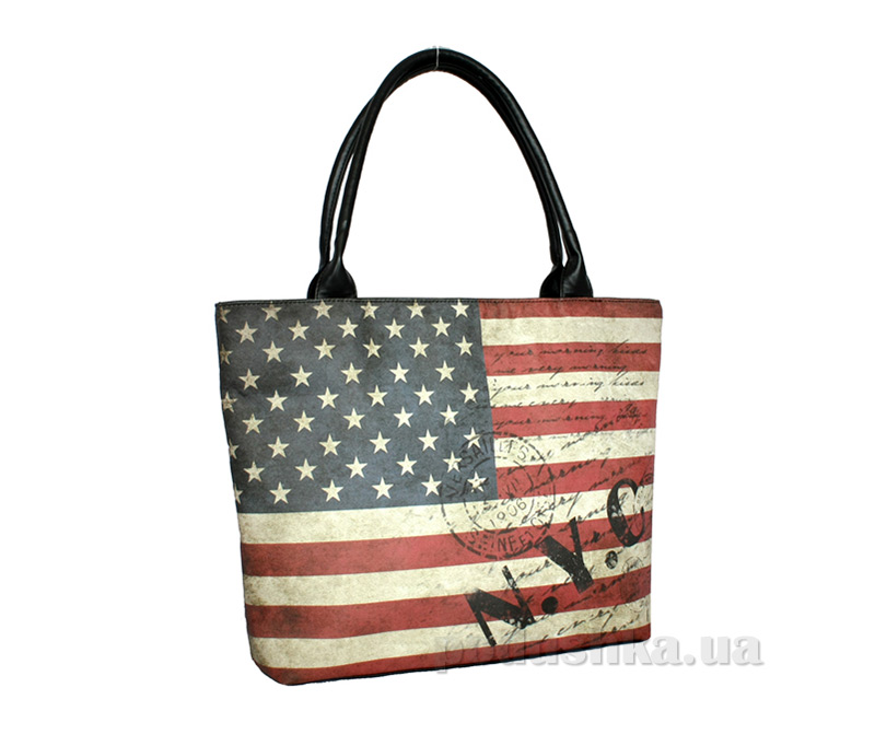 Сумка из эко-кожи Betty Pretty Американский Флаг EL163-604AM
