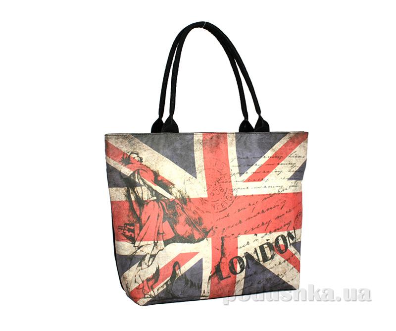 Сумка из эко-кожи Betty Pretty Британский Флаг EL163-605LONDON