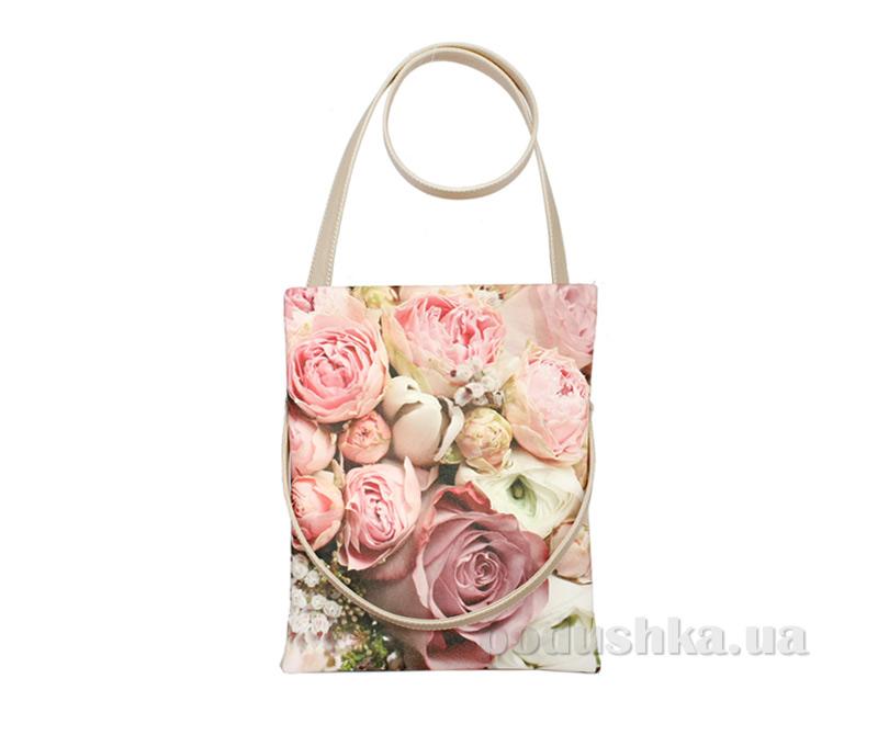 Сумка из эко-кожи Betty Pretty Розовый букет EL744-900ROZA