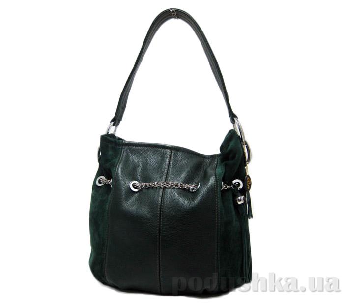 Сумка из натуральной кожи Artis Bags 525 темно-зеленая