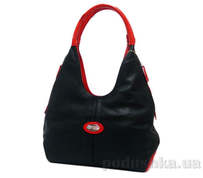 Сумка из натуральной кожи Artis Bags 586 черно-красная