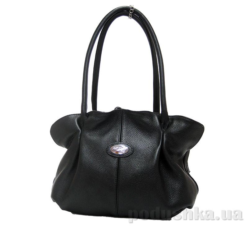 Сумка из натуральной кожи Artis Bags 610 черная