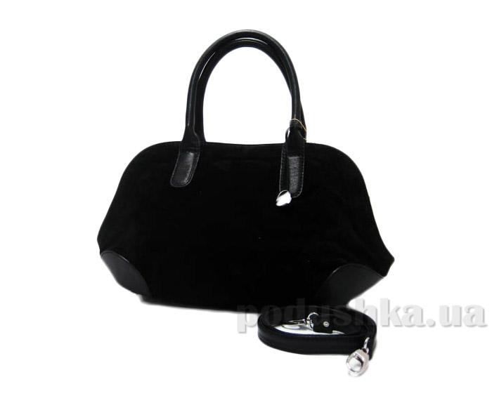 Сумка из натуральной кожи Artis Bags 695 черная с замшей