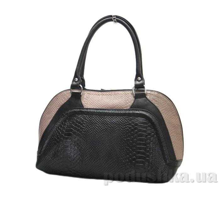 Сумка из натуральной кожи Artis Bags 800 коричнево-черная