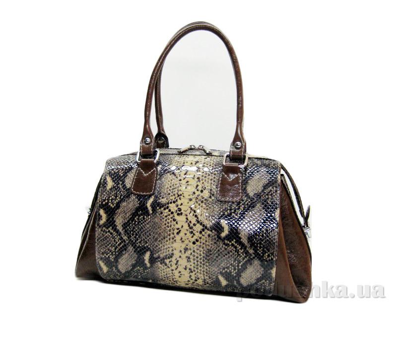 Сумка из натуральной кожи Artis Bags 827 коричневая с тиснением