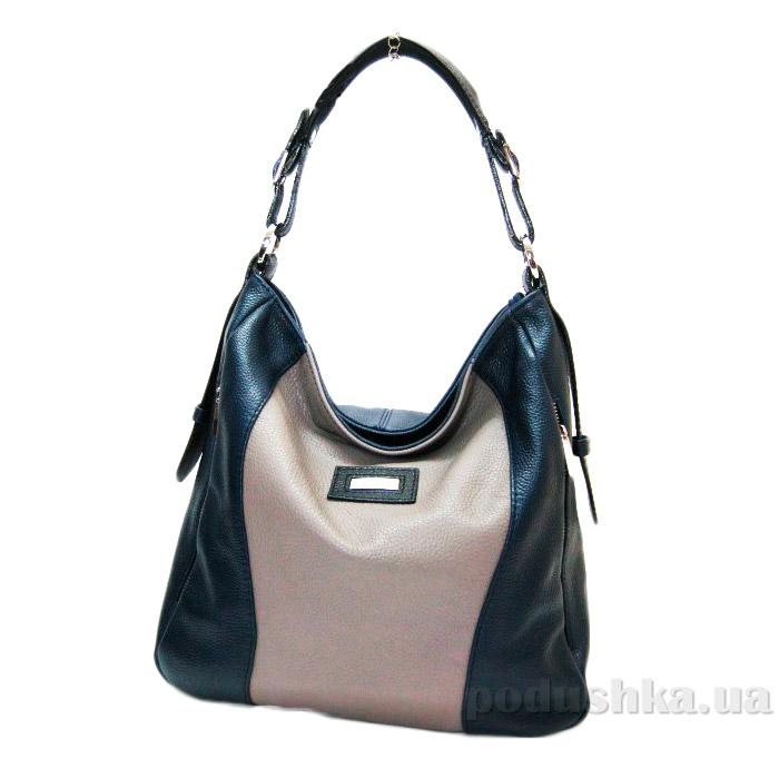Сумка из натуральной кожи Artis Bags 829 кремово-черная