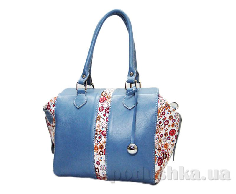 Сумка из натуральной кожи Artis Bags 848 голубая