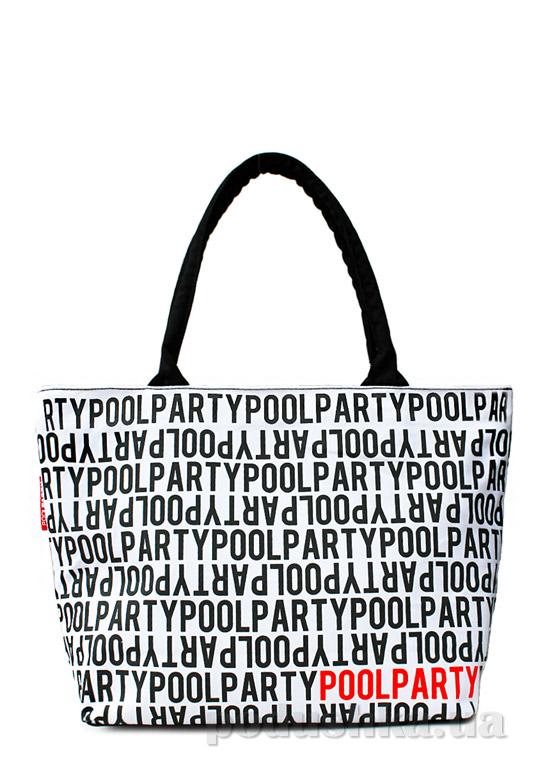 Сумка коттоновая Poolparty Pool Stream white