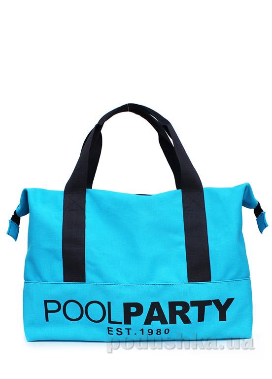 Сумка коттоновая Poolparty Pool-12 blue