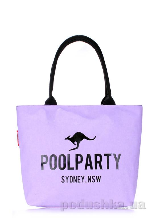 Сумка коттоновая Poolparty Pool-9 lilac
