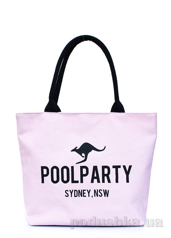 Сумка коттоновая Poolparty Pool-9 rose