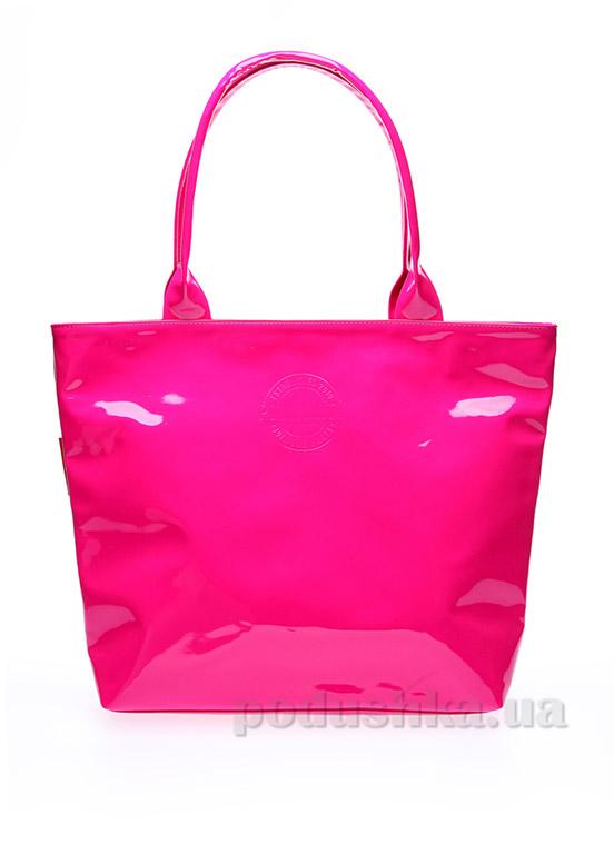 Сумка лаковая Poolparty Pool-7 Laque pink