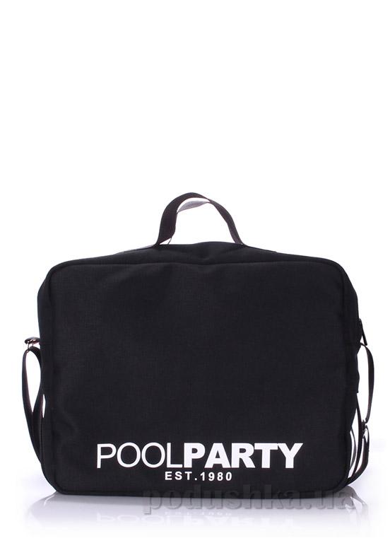 Сумка молодежная Poolparty Pool-11 black