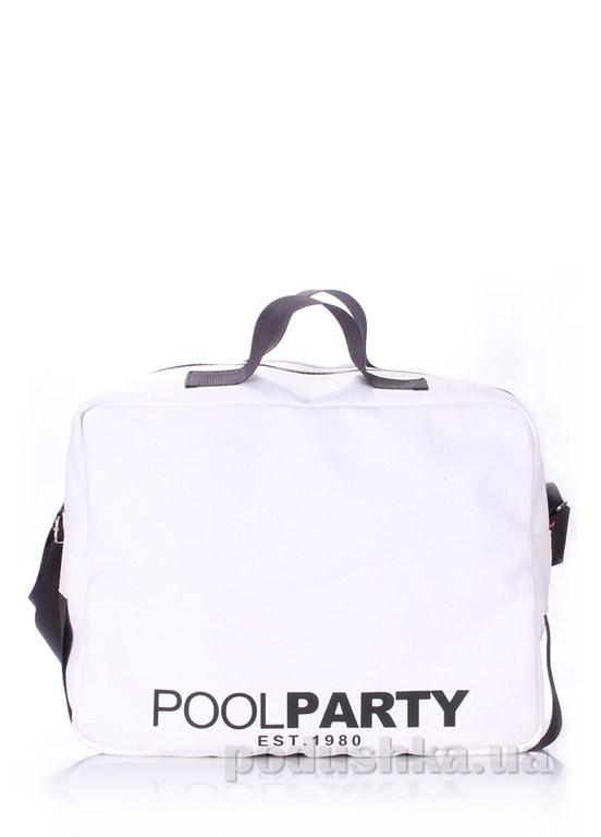 Сумка молодежная Poolparty Pool-11 white
