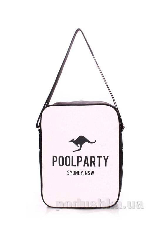 Сумка с ремнем на плечо Poolparty Pool-18 white