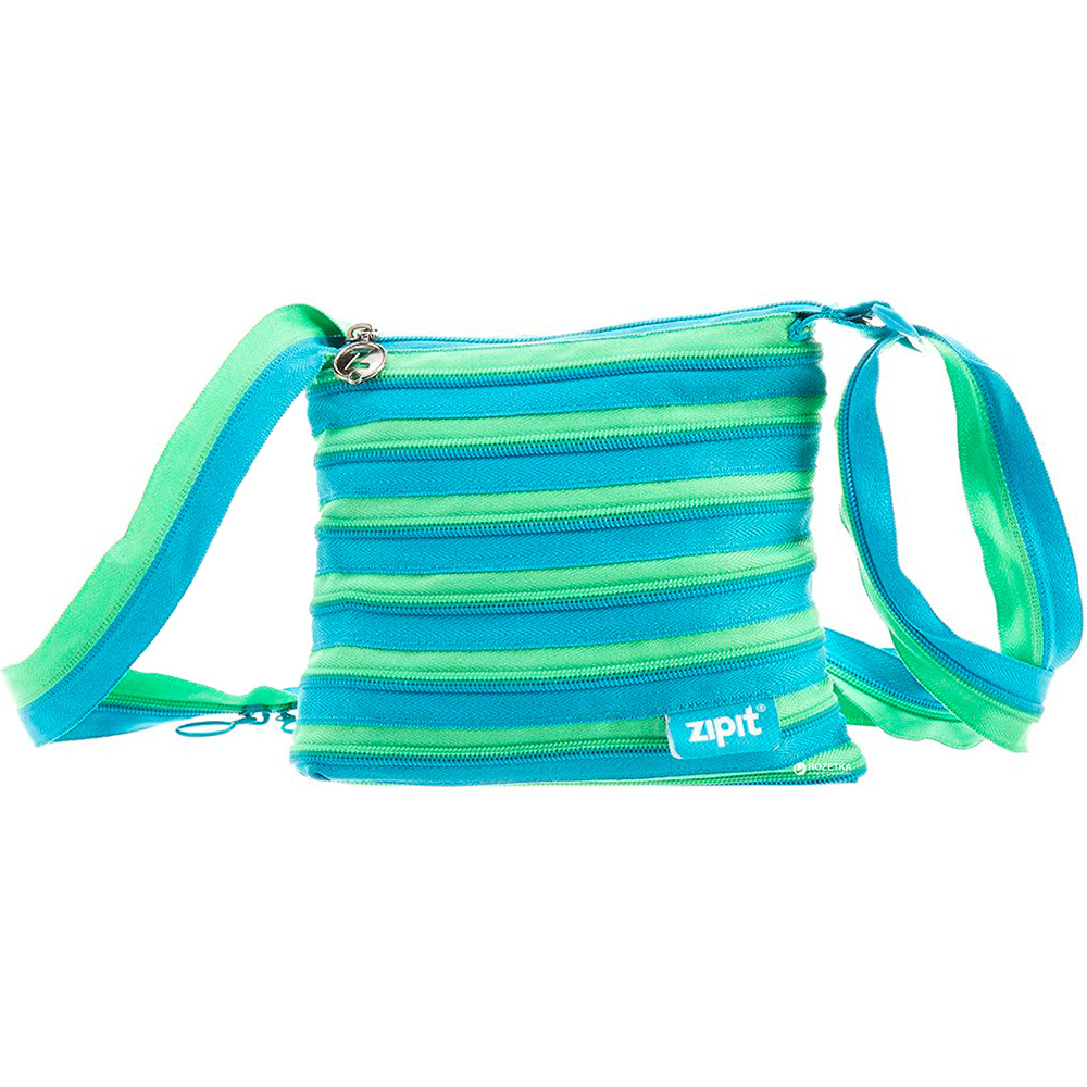Сумка Zipit Medium Turquise Blue & Spring Green ZBD-15 бірюзовий