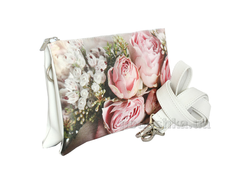 Сумка-клатч из эко-кожи Betty Pretty Розовый букет EL755-900ROZA
