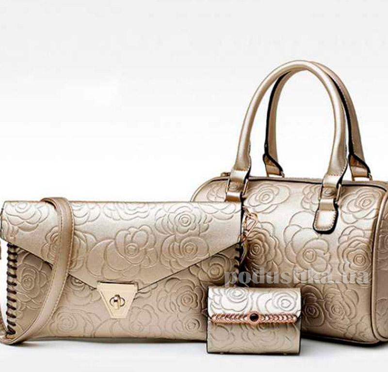 893b2cea100c Сумка-комплект золотистого цвета Traum Украина 7228-01 купить в ...