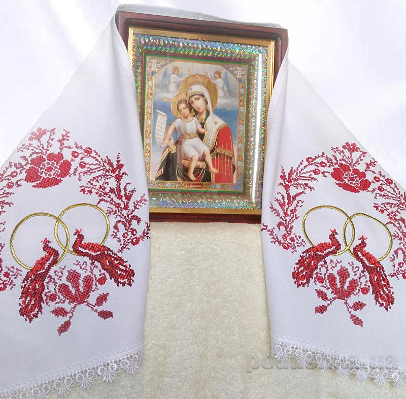 Свадебный вышитый рушник Украина Птицы любви