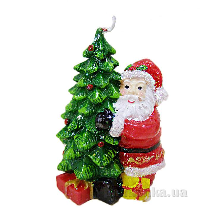 Свеча Елочка с Дедом Морозом Девилон 791149