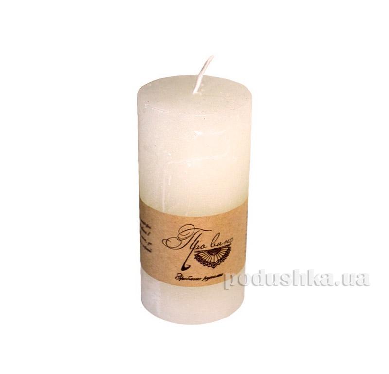Свеча слоновая кость Прованс 10см