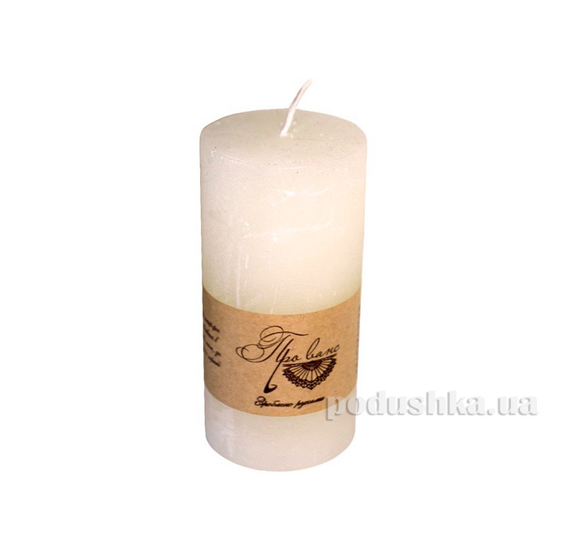 Свеча слоновая кость Прованс 15см