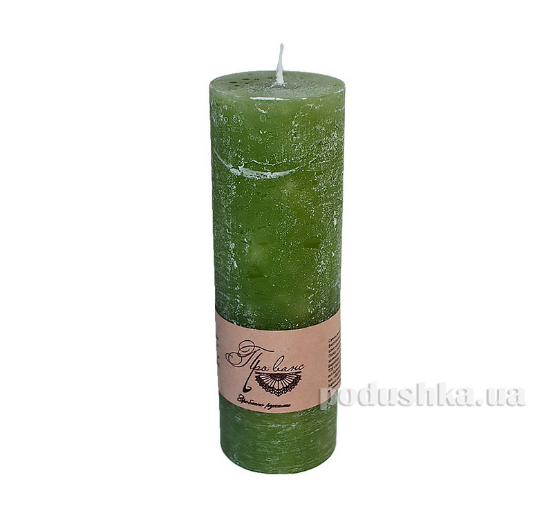 Свеча зеленая Прованс 10см