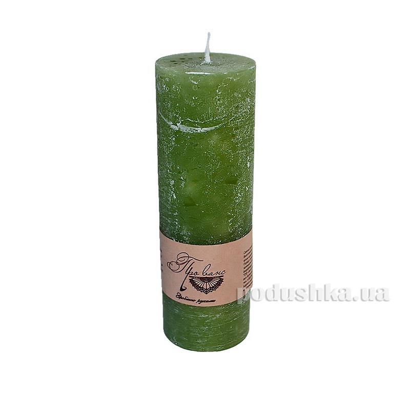 Свеча зеленая Прованс 15см