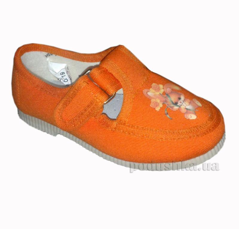 Тапочки Берегиня Ремешок 0119 оранжевые