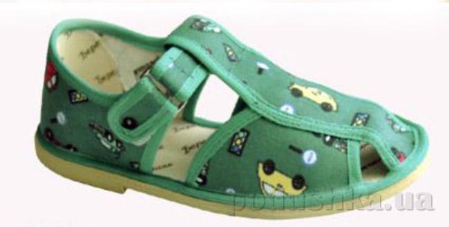 Тапочки детские Берегиня Летние зелёные